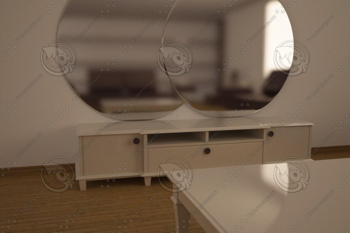 3d model scene furnitures renders
