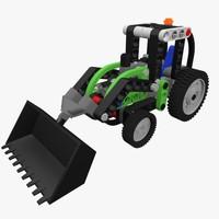 3d lego technic tractor model
