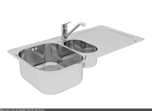 3d kitchen sink built model
