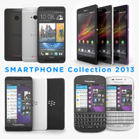 2013 Smartphone Collection Blackberry Z10 Q10 HTC One and Sony Xperia Z