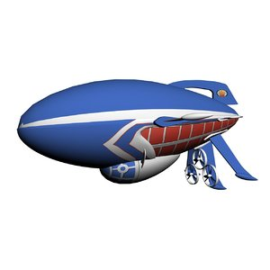 3d model airship zeppelin aircraft