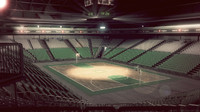 basketball arena interior scene 3d model