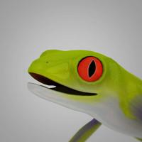 3d tree frog