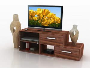 furniture tv rack 3d lwo