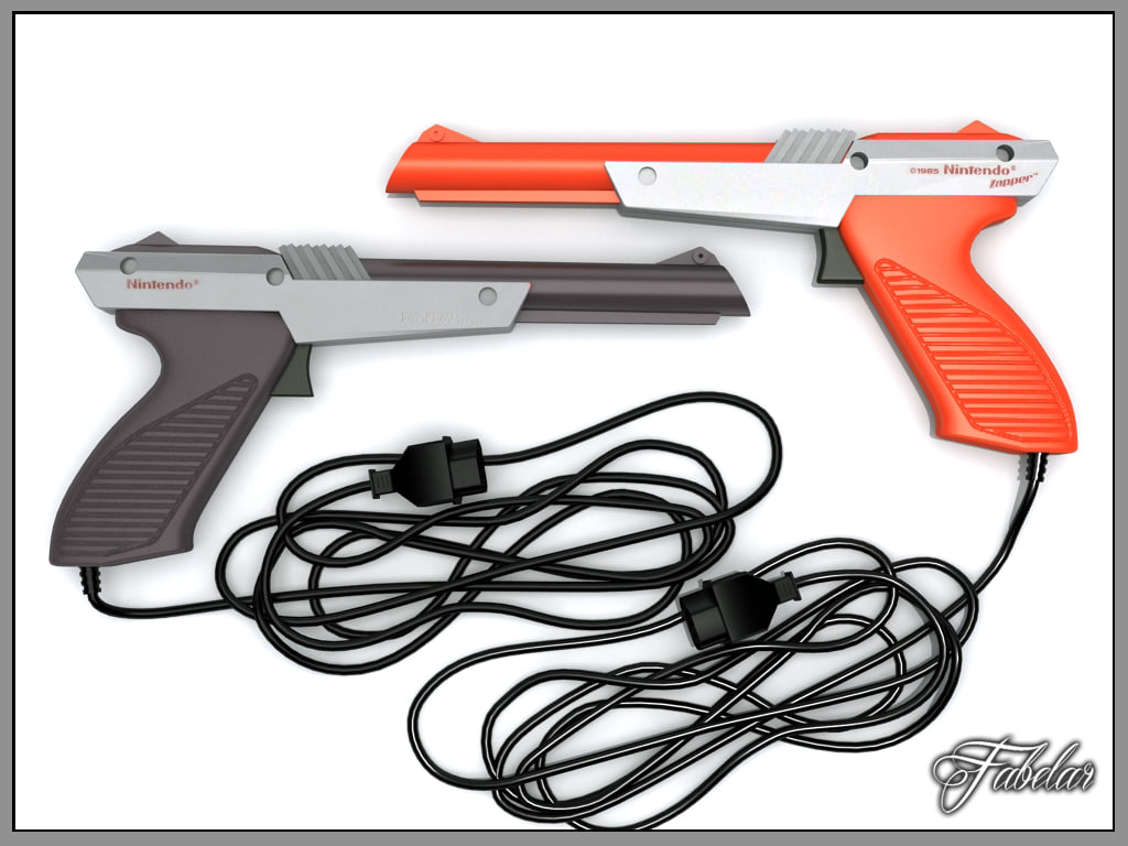 nintendo nes zapper 3d model