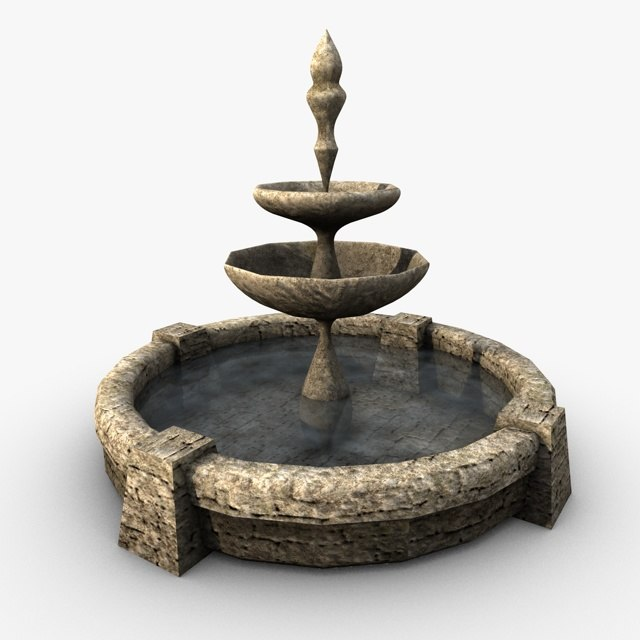 3d fountain realistic model