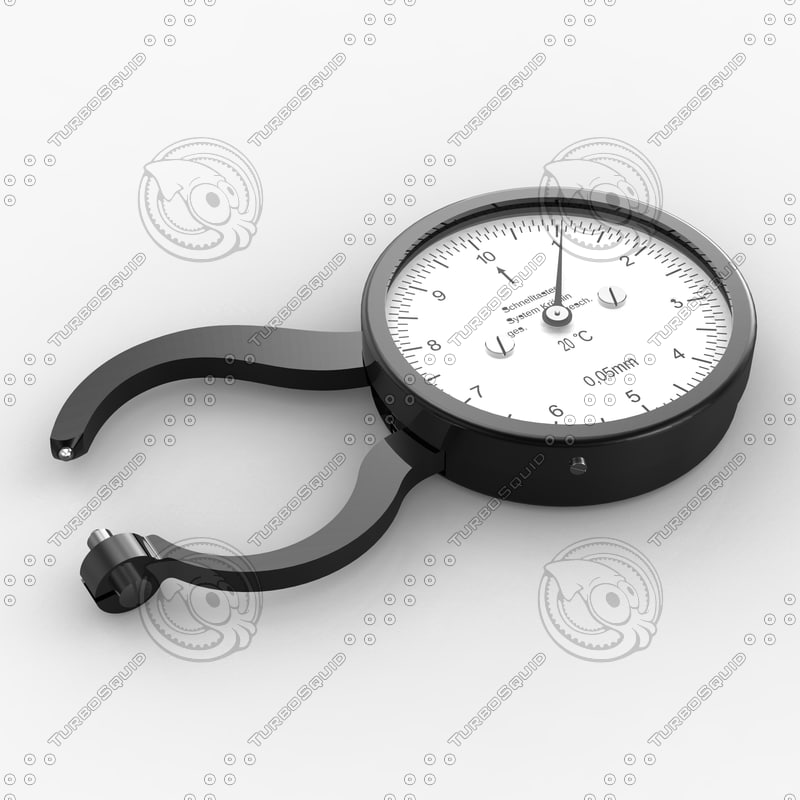 micrometer 1910 3d c4d