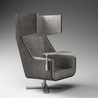 3d model buzzispace buzzime lounge chair