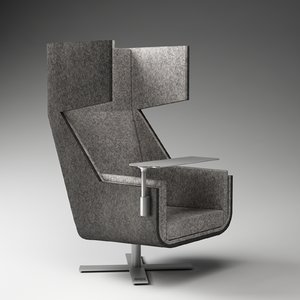 3d model buzzispace buzzime lounge chair