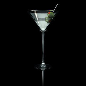 martini glass olives c4d
