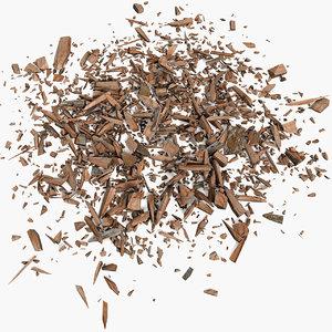 3d wood debris model