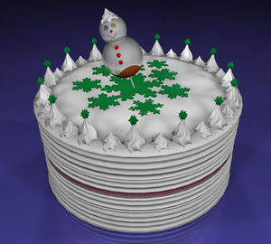 christmas cake c4d