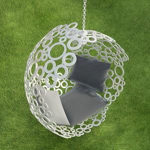 swing hanging chair 3d model