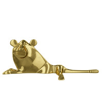 Stylized gold lion figurine