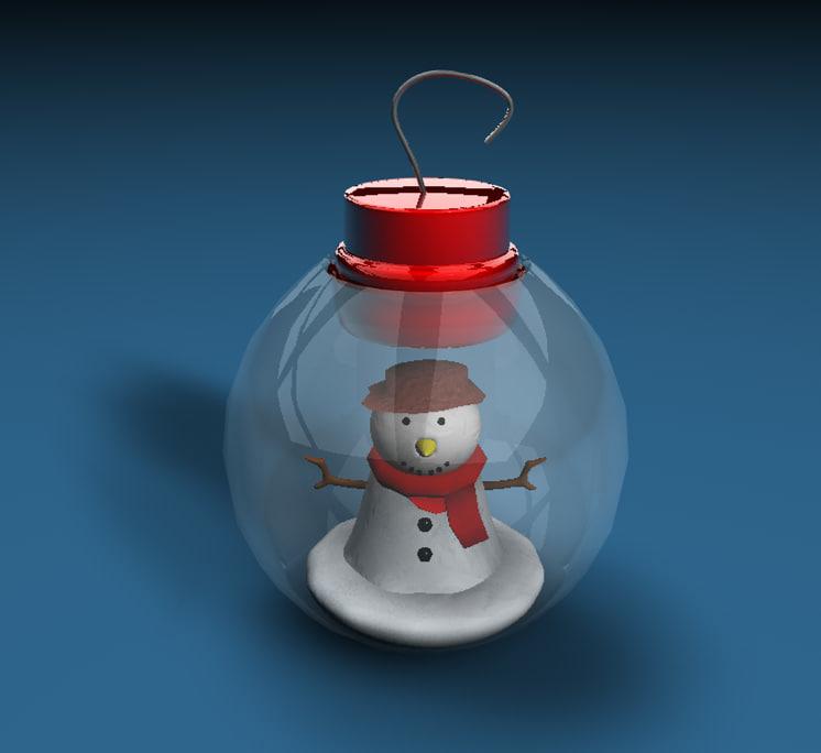 3d christmas decoration snowman model