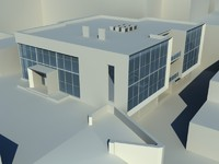 modern two-storeyed office building 3d max