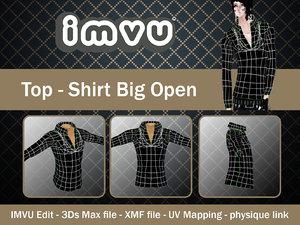 3ds shirt open