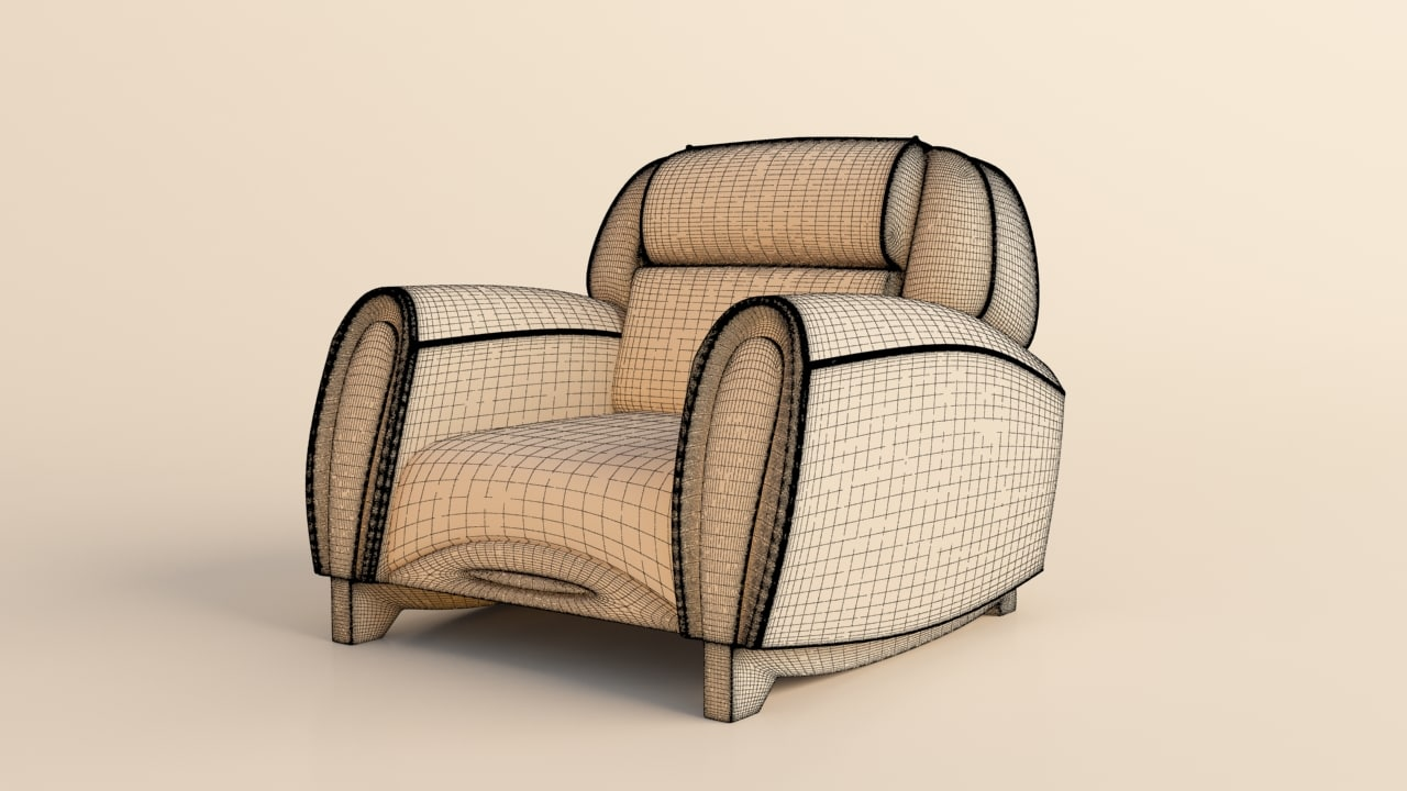 armchair imola carbon 3d max