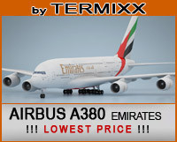 airplane airbus a380 emirates 3d max