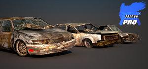 maya wreck car pack