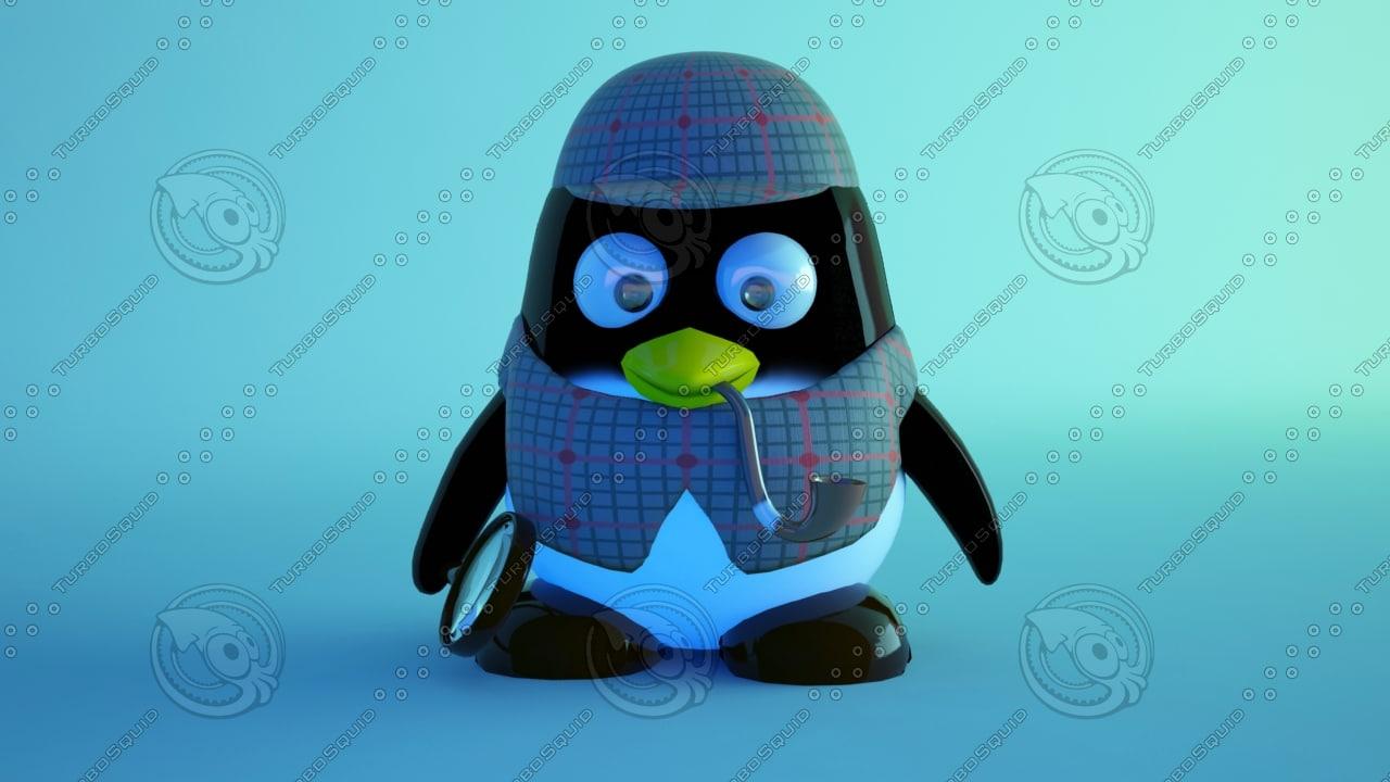 3d model pinguin