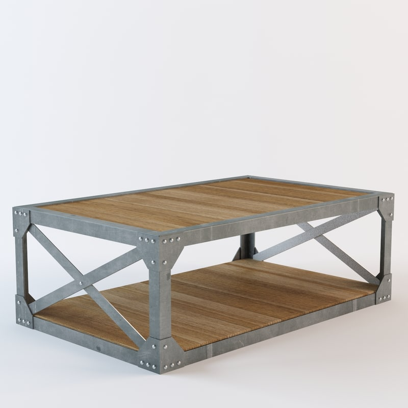 scaffolding coffee table 3d model