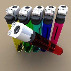 set cigarette lighters 3d model
