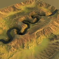 3d model canyon maps terrain