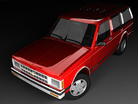 3d model of chevrolet s-10 blazer mk1