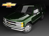 3d model of chevrolet tahoe mk1