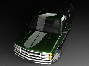 3d model of chevrolet tahoe mk1