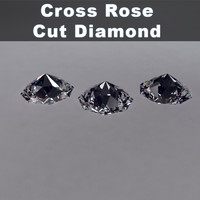 cross rose cut diamond obj