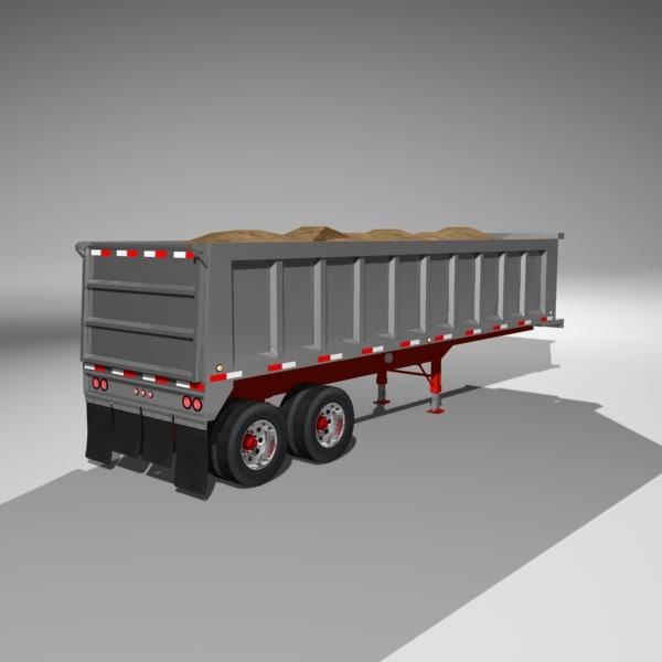 dumper trailer load 3d obj