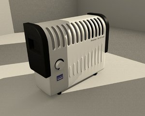 electric heater 3d model