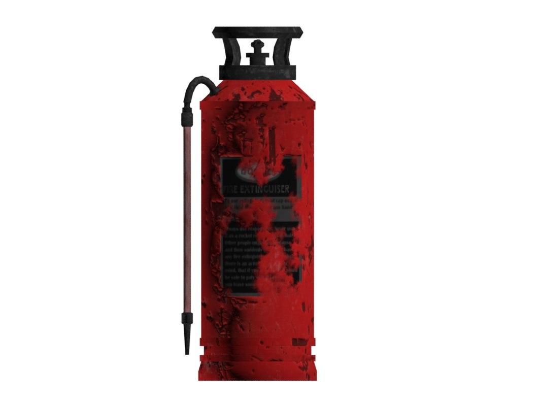 extinguisher old worn obj
