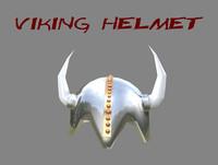 viking helmet c4d