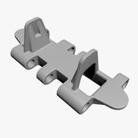 hetzer track link - 3d model