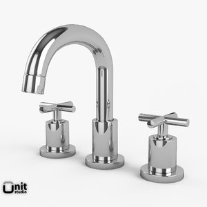 washbasin faucet helix series 3d model