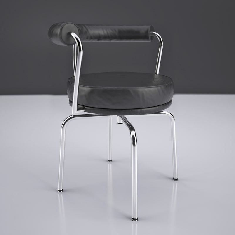 3d le corbusier lc7 swivel chair model