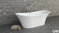 3d model jacuzzi infinito bathtub floor-standing
