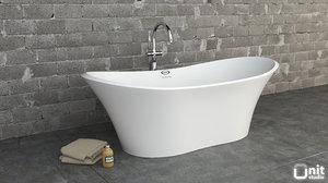 3d jacuzzi infinito bathtub floor-standing model