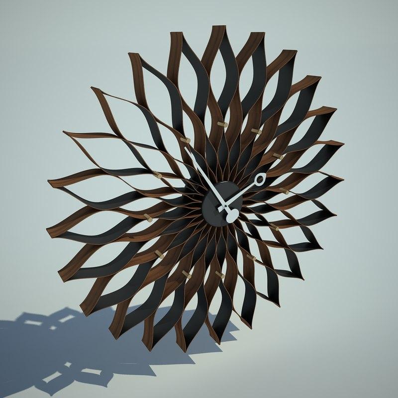 Nelson Sunflower Clock 3ds
