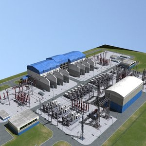 3d max electrical substation station