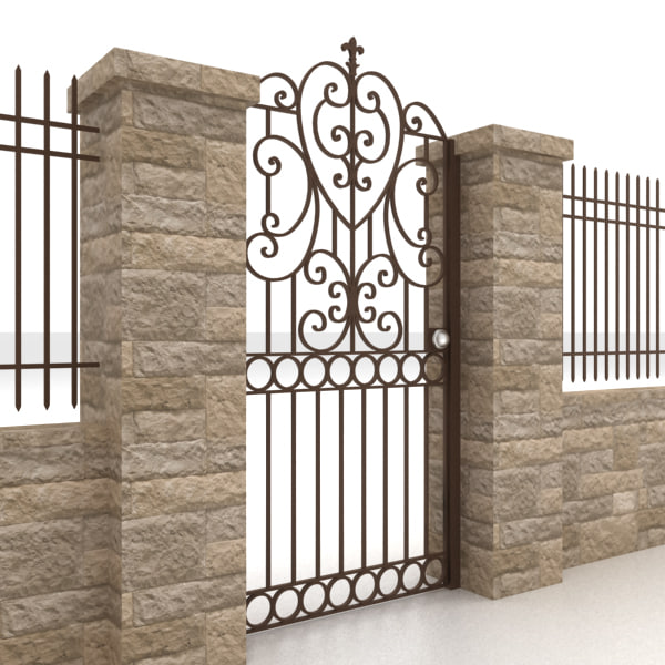 metal gate fence max