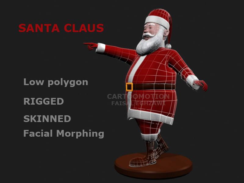 santa claus skinned 3d max