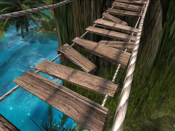 3d hanging rope bridge