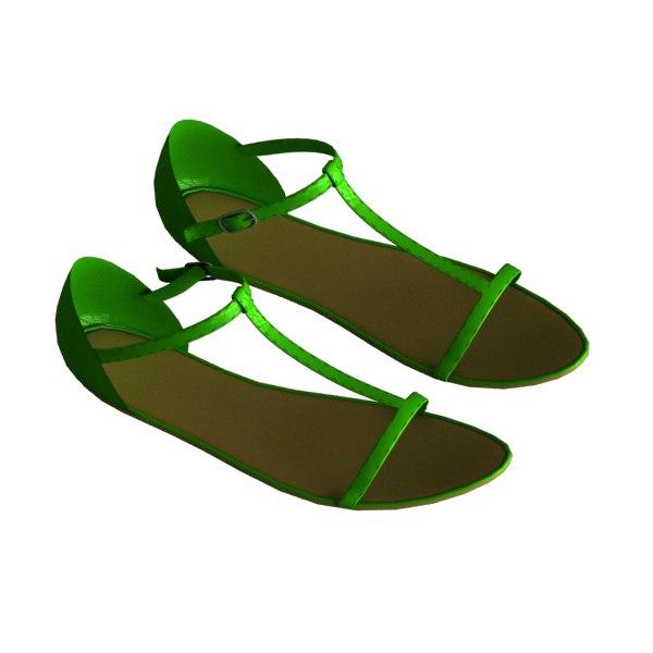 sandal female 3d model