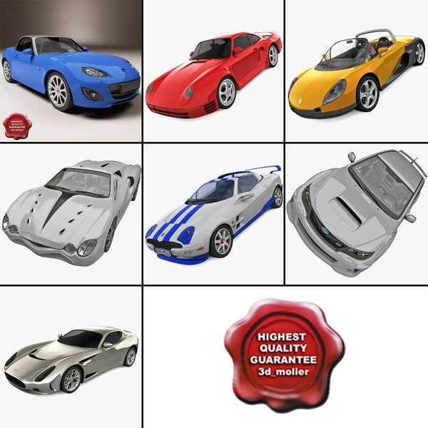 sport cars 9 3d max
