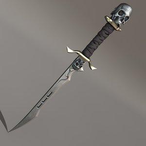 sword skull c4d