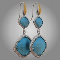3d tacori earrings model